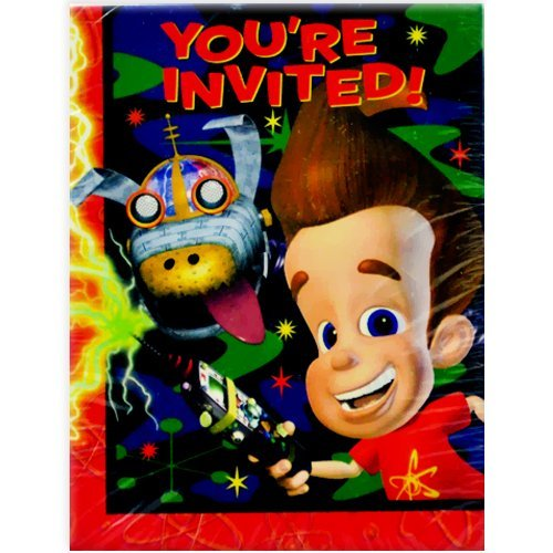 Jimmy Neutron Invitations w/ Envelopes (8ct) -