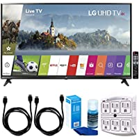 LG 65UJ6300 - 65 Super UHD 4K HDR Smart LED TV (2017 Model) w/ Accessories Bundle Includes, SurgePro 6-Outlet Surge Adapter with Night Light, 2x 6ft. HDMI Cable & Screen Cleaner For LED TVs