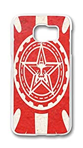 Samsung S6 Case, Galaxy S6 Case - Non-Slip Clear Hard Case for Samsung Galaxy S6 Red Obey Logo Anti-Scratch Crystal Clear Hard Case for Samsung Galaxy S6