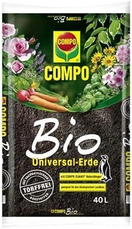 Compo Sana – Sustrato universal bio sin turba, 40 L): Amazon.es ...