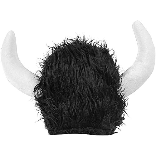 Furry Black Viking Hat ()