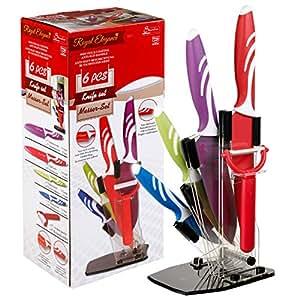 Royal Elegance 4 Piece Knife Set & Peeler With Stand