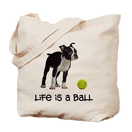 CafePress–Boston Terrier vida–Gamuza de bolsa de lona bolsa, bolsa de la compra