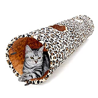 "PAWZ Road Cat Toys Collapsible Tunnel Dog Tube for Fat Cat,Rabbits,Dogs Length 51"" Diameter 12"""