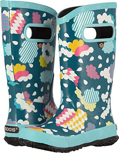 Bogs Kids Baby Girl's Rainboot Clouds (Toddler/Little Kid/Big Kid) Aqua Multi 8 M US Toddler
