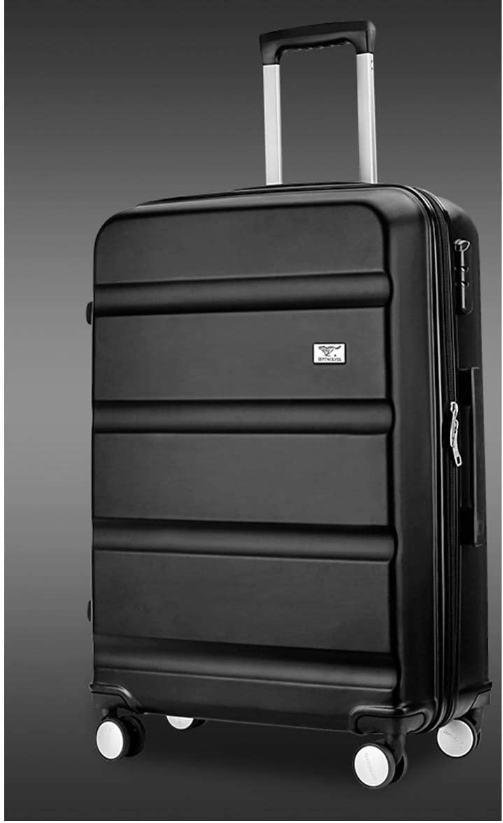 Color : Brown, Size : 24 Hard case Travel Organizer Best Gift Bahaowenjuguan Carry Suitcase Rotating Suitcase 20//24 inch Silver