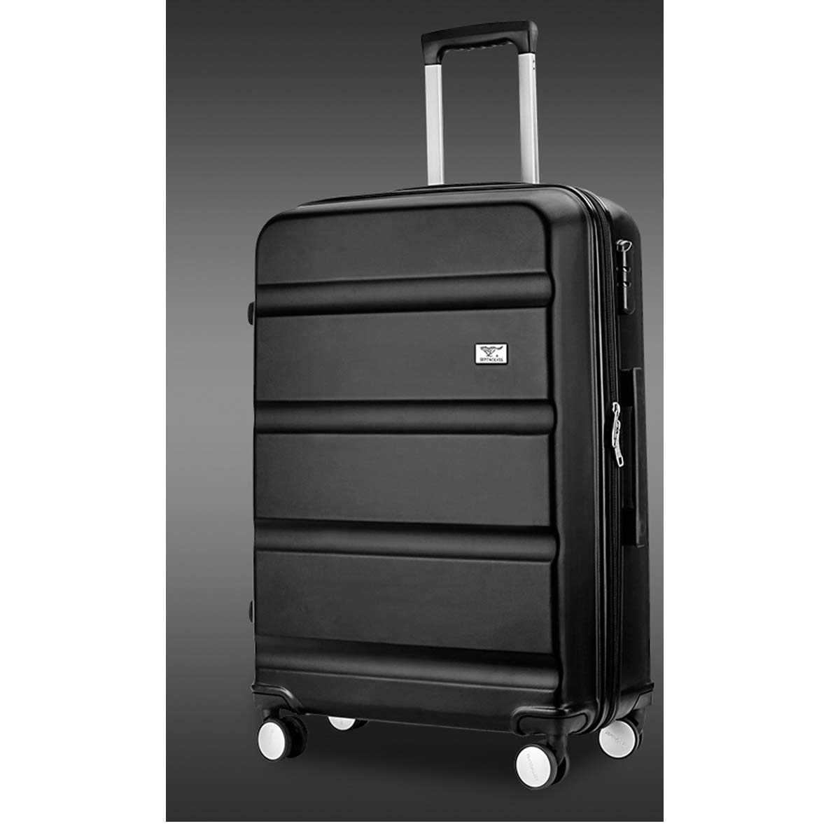 Color : Black, Size : 20 Hard case 20//24 inches Bahaowenjuguan Carrying Suitcase Black Travel Organizer Rotating Suitcase Best Gift