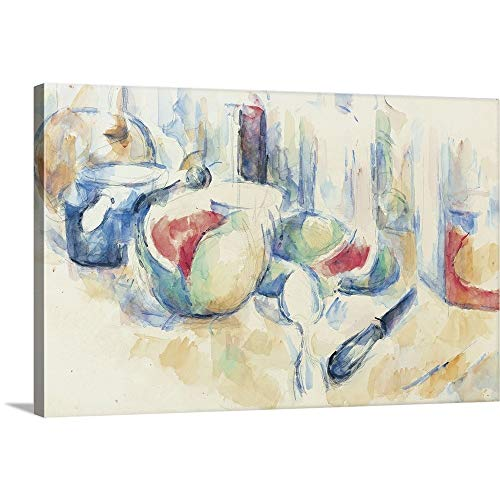 GREATBIGCANVAS Gallery-Wrapped Canvas Entitled Cezanne - Still Life with Fruit by Paul Cezanne 18