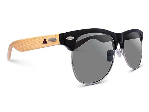 39c66119fe5 Amazon.com  Treehut Wooden Bamboo Sunglasses Half Rim Wood ...