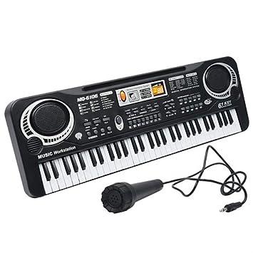 YTBLF Menores De 61 Teclas con Micrófono Teclado Simulación Instrumento Música Piano Juguete Regalo: Amazon.es: Deportes y aire libre