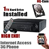 HQ-Cam 32 CH Channel Internet Security Surveillance Camera DVR System with 1TB HDD Pre-installed - Real Time 3G Mobile