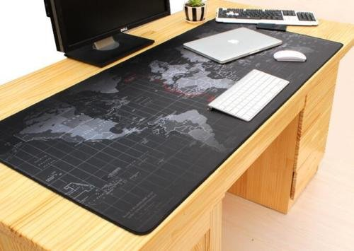 GohEun Large Size 7003003MM World Map Speed Game Mouse Pad Mat Laptop Gaming Mousepad (City Of Cincinnati Halloween)