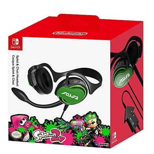 Hori Nintendo Switch Splatoon 2 Splat   Chat Headset