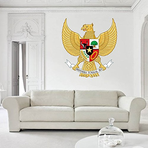 Indonesia Coat Of Arms - Indonesia's coat of arms Vinyl decal Wall Car Laptop, 72 inch