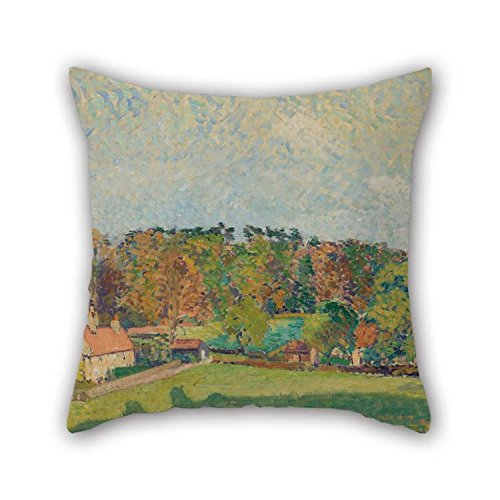 beeyoo Pillowcover of Oil Painting Spencer Gore - Autumn, Sussex 20 X 20 Inches / 50 by 50 cm Best Fit for Christmas Boys Kitchen Adults Birthday Outdoor Both Sides