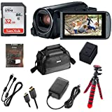 Canon VIXIA HF R800 Full HD Camcorder, CMOS Sensor, 57x Advanced Zoom, Fast & Slow Motion Recording + 32GB Storage + Spider Tripod + Case