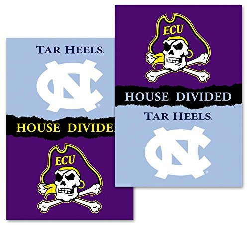NCAA East Carolina Pirates 2-Sided 28 x 40-Inch Banner with Pole Sleeve House Divided, Team Color