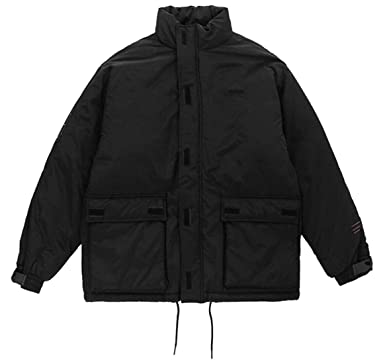 Britainlotus Mens Winter Long Sleeve Puffer Hip Hop Short Packable Down Jacket