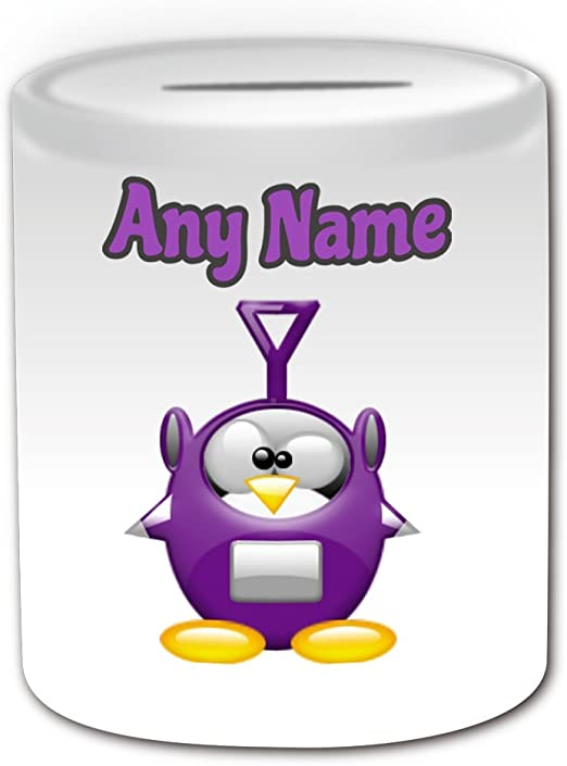 Regalo personalizado – Tinky Winky caja de dinero (pingüino ...