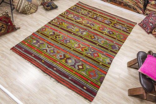 Oushak Kilim, Vintage Kilim Rug 5.74x7.35 ft (175x224 cm)
