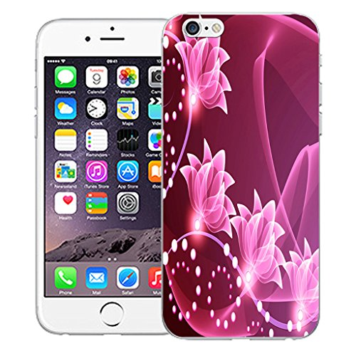 "Mobile Case Mate iPhone 6S Plus 5.5"" Silicone Coque couverture case cover Pare-chocs + STYLET - Floral Signature pattern (SILICON)"