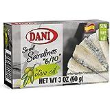 Dani Small Sardines in Olive Oil (6-10+ sardines) 3 oz (