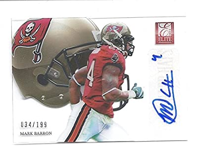 MARK BARRON 2012 Donruss Elite Hard Hats #58 Parallel AUTOGRAPH Rookie Card RC #034 of only 199 Made! Los Angeles Rams Football