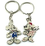 "Angelia Disney Lover Mickey Lover His Her Keychain Keyring Couples - Arrow & ""I Love You"" Heart & Key -Valentine's Day / Birthday / Christmas /Wedding anniversary Present Gift I3"