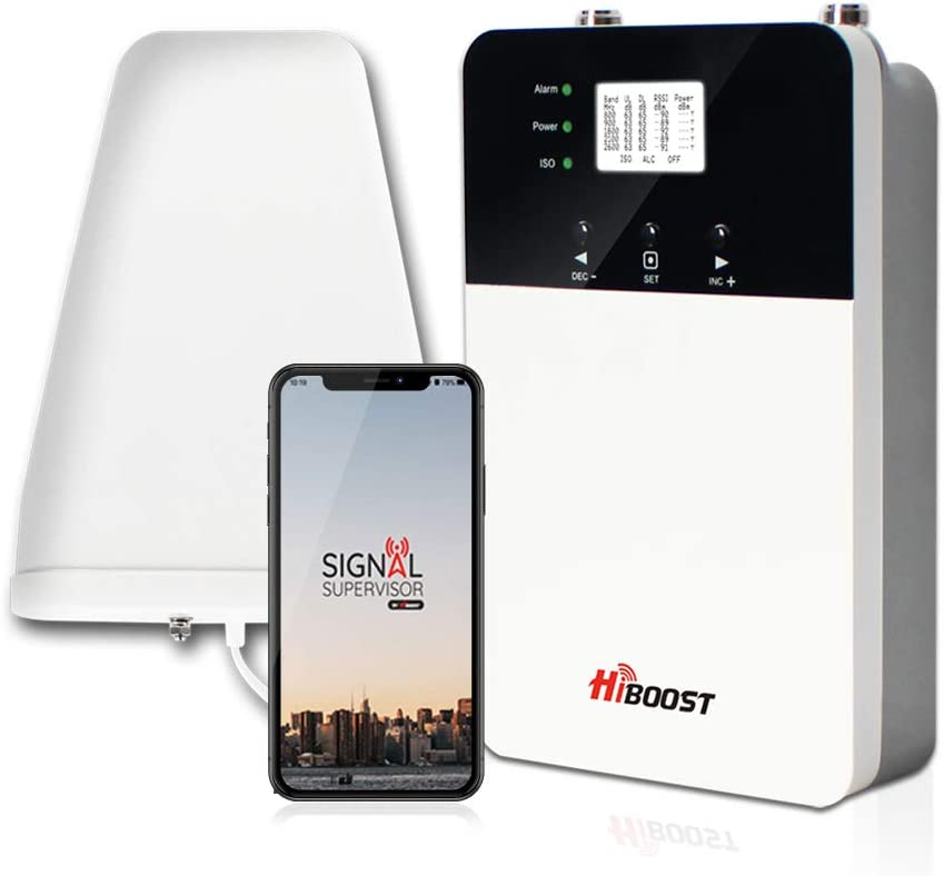 HiBoost Cell Signal Booster, Up to 4,000 sq ft for AT&T Sprint Verizon T-Mobile 2G 3G 4G LTE Cell Phone Booster for Home