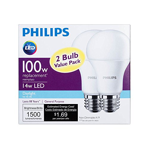 philips led non dimmable a19 frosted light bulb 1500 lumen import it all