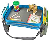 kids activity tray - Kids Travel Activity & Snack Tray by On The Go Families- Heavy Duty Side Walls, Solid Lap Desk with Large Pockets for Storage - Portable, Waterproof & Machine Washable - Keep Toddlers Happy in the Car