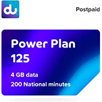 du Postpaid Power Plan 125 SIM Card with 4 GB Data and 200 National Minutes - 12 Months Contract
