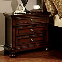 Furniture of America Birkholtz 3 Drawer Nightstand