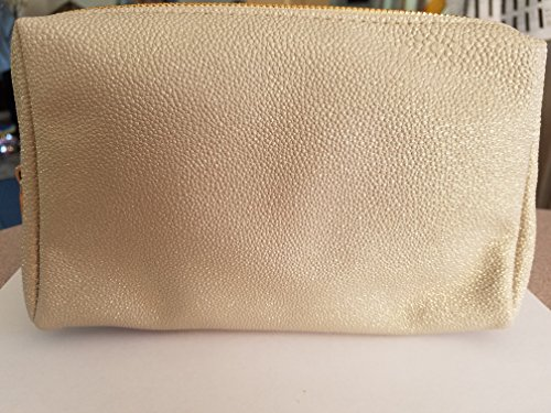 Bare Minerals Beige & Gold Sparkles Cosmetic Bag/Clutch (Bare Minerals Makeup Bag)