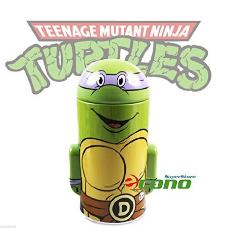 Collectable Teenage Mutant Ninja Turtle Tin Box Coin Piggy Bank Donatello (Ninja Turtle Piggy Bank Donatello compare prices)