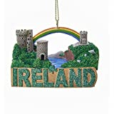 Ireland Travel Destination Landmarks Christmas Ornament Castle Rainbow A1694 New