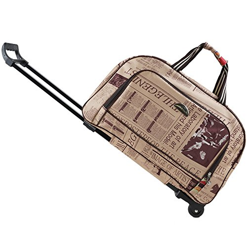 - SENLI Travel Duffle Trolley bag tote Carry-On Luggage Rolling Gym bag 20 Inch