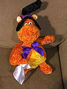 Dandee Halloween Ghost Orange Dinosaur Animated Plush