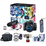 Canon T6i Video Creator Kit EF-S 18-55mm f/3.5-5.6 IS STM Lens, Rode VIDEOMIC GO Microphone, 32GB SDHC Card - Bundle Filters, Remote Trigger, Camera Case. Cleaning Kit, Mac Software Package