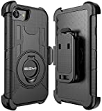 iPhone 7 Case, iPhone 7 Holster case, SGM Hybrid Dual Layer Combo Armor Defender Protective Case With Kickstand + Belt Clip Holster For Apple iPhone 7