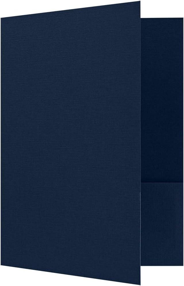 9 x 12 Presentation Folders - Dark Blue Linen (250 Qty) | Perfect for Tax Season, Brochures, Sales Materials and so much More!| PF-DBLI-250