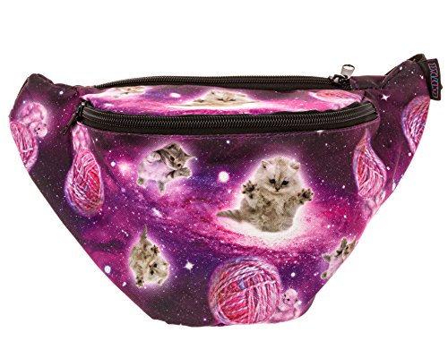 KANDYPACK Galaxy Cat Fanny Pack - Cute Cool Rave Festival Waist Bag