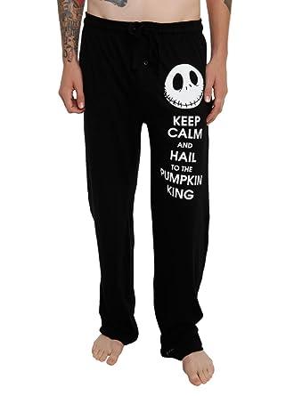 the nightmare before christmas keep calm mens pajama pants black xs