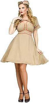 Disfraz de mujer militar de los años 40 durante la 2ª Guerra Mundial ...