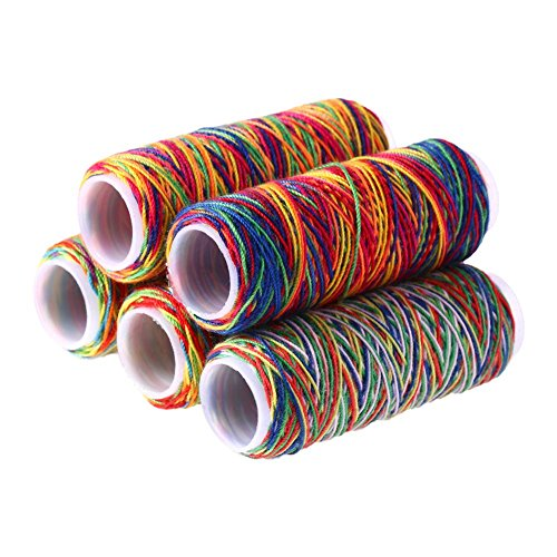 multicolored sewing floss - 1
