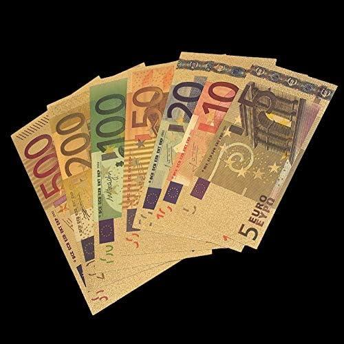 CHENTAOCS 7PCS /セットカラーユーロ紙幣は、紙幣記念コインホームDecro紙幣フィルム5 10 20 50 100