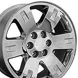 20x8.5 Wheel Fits GM Trucks & SUVs - GMC Yukon Style Chrome Rim, Hollander 5307