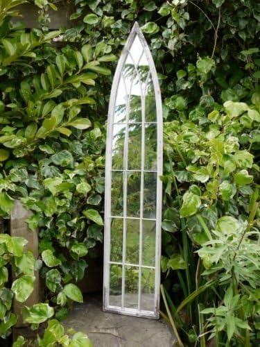 Grande decorativo gótico Arco Puerta Metal enmarcado espejo de ...