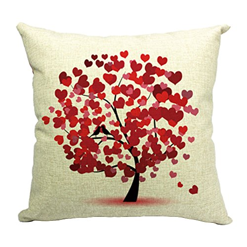 Hflove Creative Pastoral Life Tree Cushion Sofa Bed Backrest (pattern 1) ()