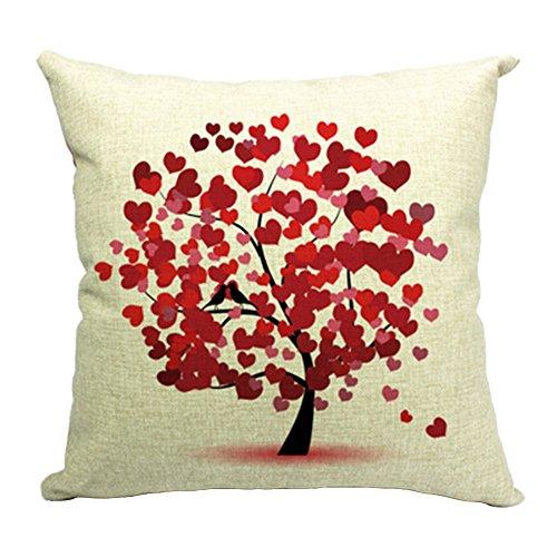 Hflove Creative Pastoral Life Tree Cushion Sofa Bed Backrest (pattern 1)